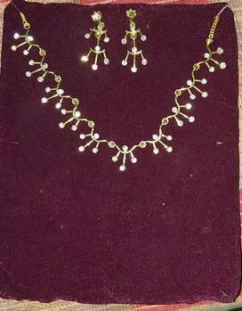 Necklace with earing