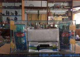 Jual aquarium paket 60x30x30 langsung masuk ikan