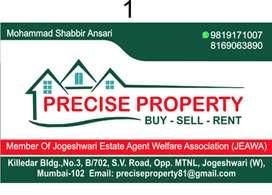1RK,1/2/BHK Rental/Sale/Heavy deposit flat available in Jogeshwari