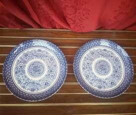 Piring Keramik Pajangan Biru Putih