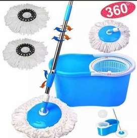 spin mop pel lantai Tanpa peras.. Ruang, kantor, kamar, tidur, mandi