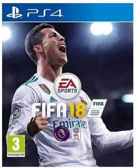 Fifa 18 and battle field 1   used disks for PlayStation 4