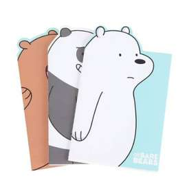 WE BARE BEARS MEMO BOOK 3'S