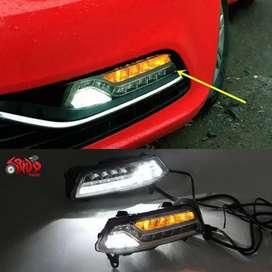 Polo ameo led fog lights with DRL and Matrix indicators