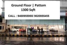 1300 Sqft   Pattom   1,20 Lacs   Ground Floor