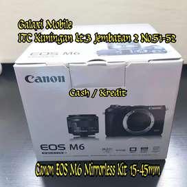 Cash/Kredit Kamera Canon EOS M6 Mirrorless with 15-45mm Call WA aja