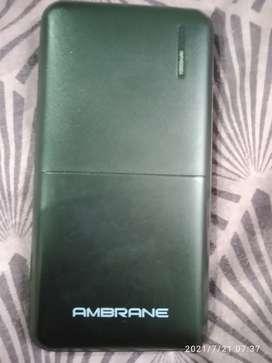 AMBRANCE POWER BANK 10000 mAh good condition no complaints
