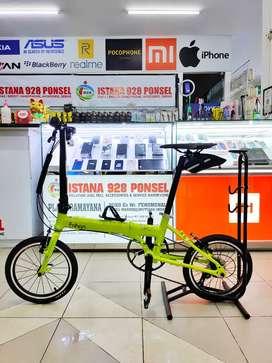 Dijual Sepeda Baru  *Fnhon Zephyr*  Warna : Orange / Green Glossy