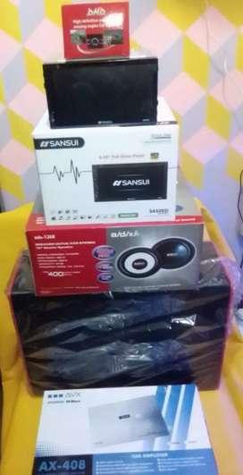 Paket Double Din kamera dan Full Audio