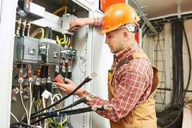 Elcctrician and wire man maintance  job