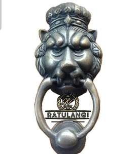 Ketukan Pintu Gebyok Singa Asli Kuningan Antik Klasik Hias Egga Lampu