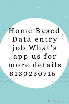 part time home based job available