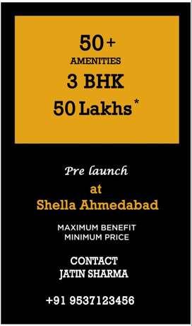 3 Bhk @ 50 Lakhs.