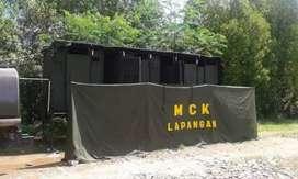Tenda MCK Lapangan standar TNI