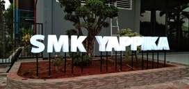 huruf timbul 3D acrylic SMK YAPPIKA