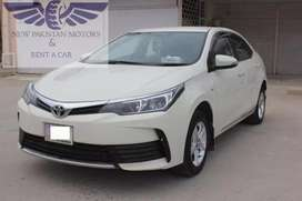 Toyota Corolla 2019 model available for rent in Islamabad/Rawalpindi