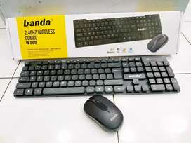 Keyboard Mouse wireless BANDA W500