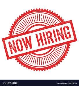 Male and female urgent job vacancy