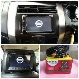 Paket Headunit headrest TV & camera untuk Nissan Grand Livina