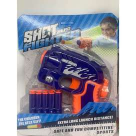mainan anak pistol - pistolan / nerf / soft bullet eva gun