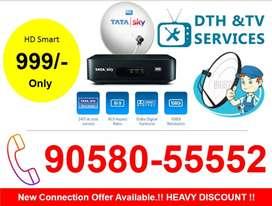 70% Discount Offer On Tata sky HD TATASKY Airtel DishTV Videocon D2H!!