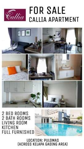 Dijual Callia Apartment 900 jt 2 bedroom fully furnished