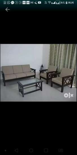 Moving out sale - NEW pure teakwood sofa set with coffee table