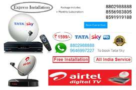 Airtel nd Tatsky new D2h connection free 1month