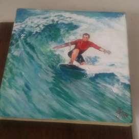 Lukisan Surfer Boy