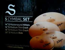 Zildijian S cymbal pack 5 piece with full package in mint condition