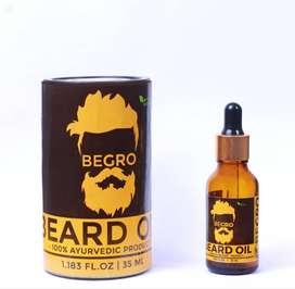 BEGRO Beard Growth Oil - 100% Ayurvedic Beard Growth Oil