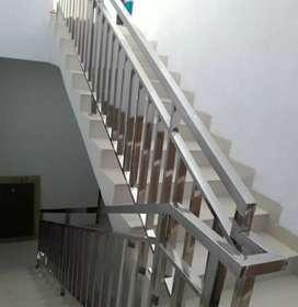 Raling tangga railing tangga besi stainles galvanis