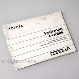 Buku Manual Book Pedoman Mobil Toyota Corolla Twincam AE92 1987-92 ORG