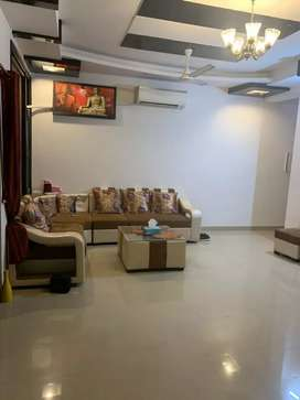 Fully furnished 3bhk flat 2 washrooms gated society for all