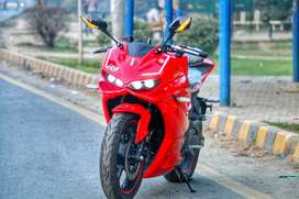 Kawasaki Ninja Skyline in 250cc single cylinder heavy bike at ow motor