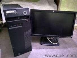 Lenovo tower core I3 4th gen 4gb ram 500 gb hdd dvd 19 inch led
