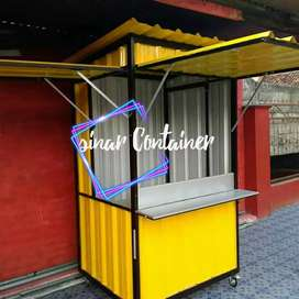 Booth container booth jualan booth bazar container coffee shop /roda