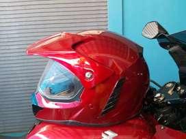 Helm Supermoto/ Enduro  original MT 25 2nd Warna Merah Mulus