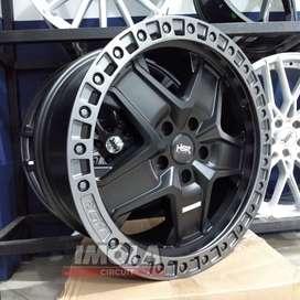 Velg mobil racing murah ring 18 HSR wheel baut 5x114,3 Black Grey