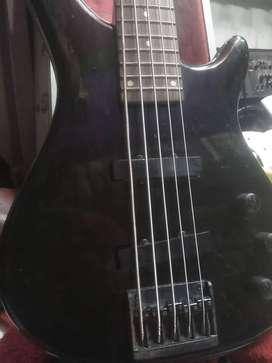 Bass 5 string original vintage korea SS black jack