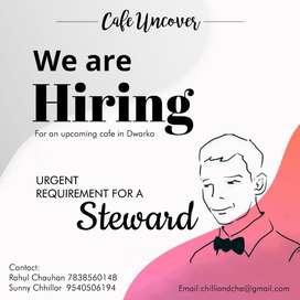 Urgent hiring of Stewards