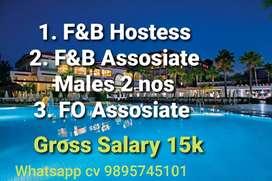 F&B Hostes, Associate and FO Associate
