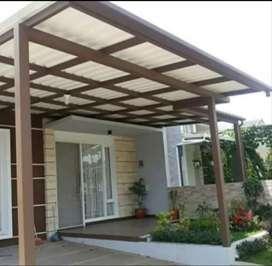 @5 canopy minimalis rangka tunggal atapnya alderon rs anti panas