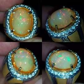 Natural opal Kalimaya susu Full jarong