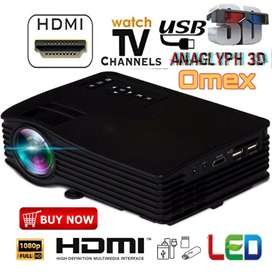LOW PRICE 100 INCH BEST HOME CINEMA HD PROJECTOR USB HDMI AV SD TV AUX