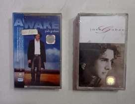 kaset pita ori paket 2 album JOSH GROBAN : AWAKE, SELF TITLED.  Segel