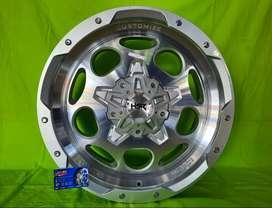 Jual velg mobil pajero r20 new hsr pisak lebar 9 Silver