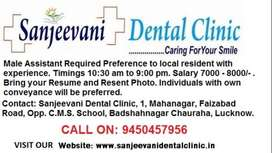 Full Time Receptionist having Experience of working in Dental Clinic
