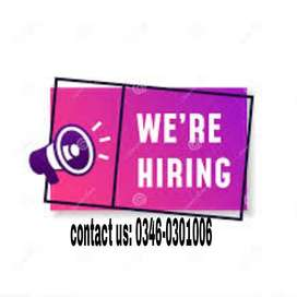 Males and females vacancies of online Advertisement!