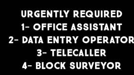 ନିଯୁକ୍ତି - REQUIRED CANDIDATES FOR OFFICE WORK